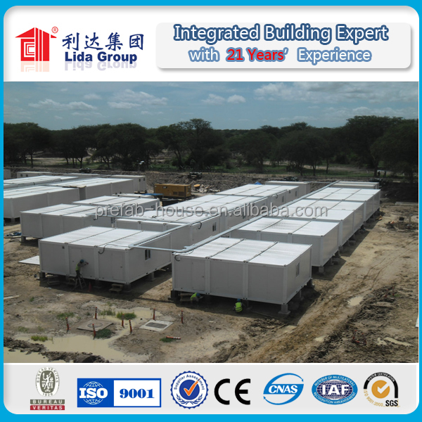 flat pack expandable container house for construction mining site