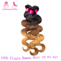 2016 High Quality Blonde Virgin Hair Ombre Remy Hair