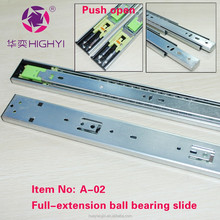 Heavy duty industrial ball bearing telescopic slide