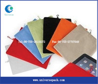 Portable Big Sized Velvet Bags Pouch for iPad