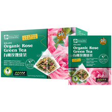 High Quality No Artificial Flavoring Organic Rose Green Tea Leaf