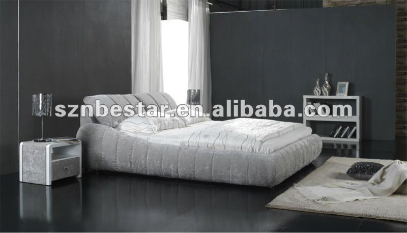 European stylish fabric soft bed ,modern bedroom furniture