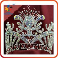 Wholesale Full pageant Round kings crown