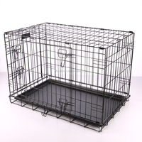 Professional factory customize high quality double door dog travel cage