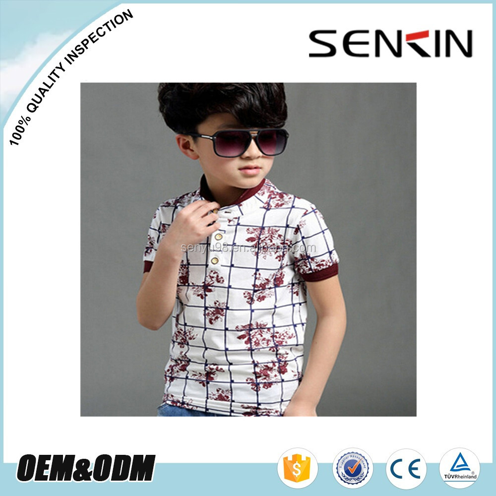 kids boys polo shirts screen printing , 100% cotton children polo t shirts for school uniform wholesale