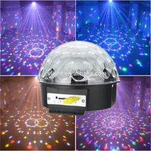 Good Quality Magic ball LED Crystal Disco ball Christmas light with MP3 strobe rotation KTV party and Christmas decoration