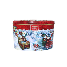 custom tea tins embossed tin boxes oval tin can