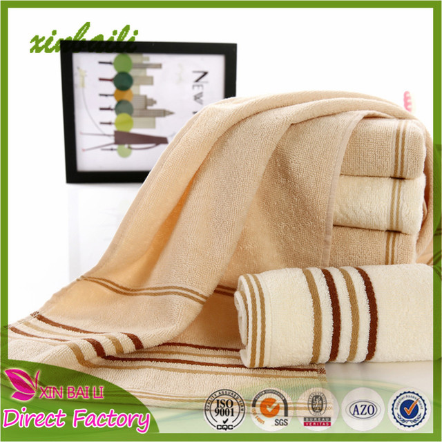 Wholesale High Quality Stripe Design 100% Cotton Terry Hand Towel