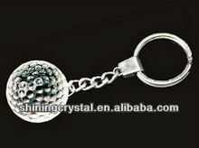 excellent golf ball shape crystal keychain