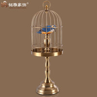 bronze color iron cages for bird both hanging and standing cages bird for home interior decor