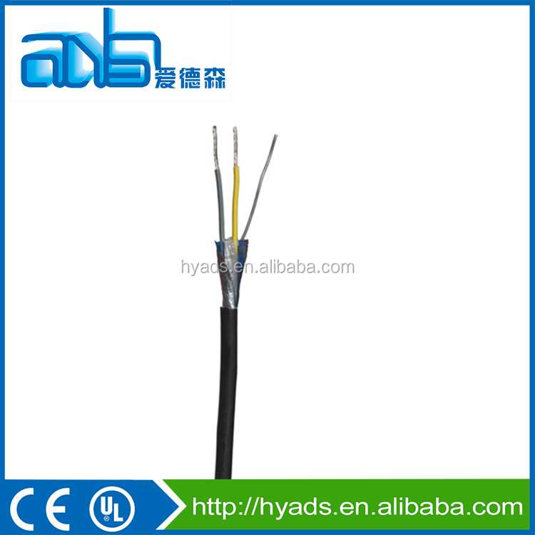 AWG26 3 core copper clad aluminum Al-foil braided control cable