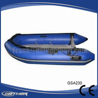 Gather Best selling 2016 Made-in-China CE alumium floor motor inflatable boat