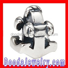 925 Sterling Silver Nautical Anchor Charm Beads for European Bracelet Jewelry