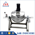 popular sanitary stainless steel steam jacketed cooking vessel