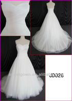 2014 corset back guangzhou real sample princess tulle ball wedding gown/bridal dress with beading motif/sequin fabric JD026