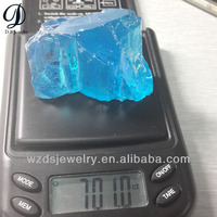 Huge size synthetic uncut blue cz gems raw aqua price per carat wholesale