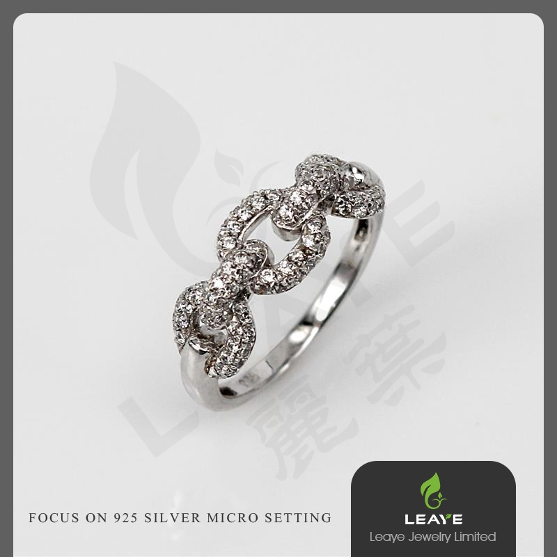 2015 Fashion Jewelry Finger Jewelry Half Chain Ring