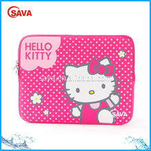 Custom Printing Pink Hello Kitty Neoprene Laptop Sleeve