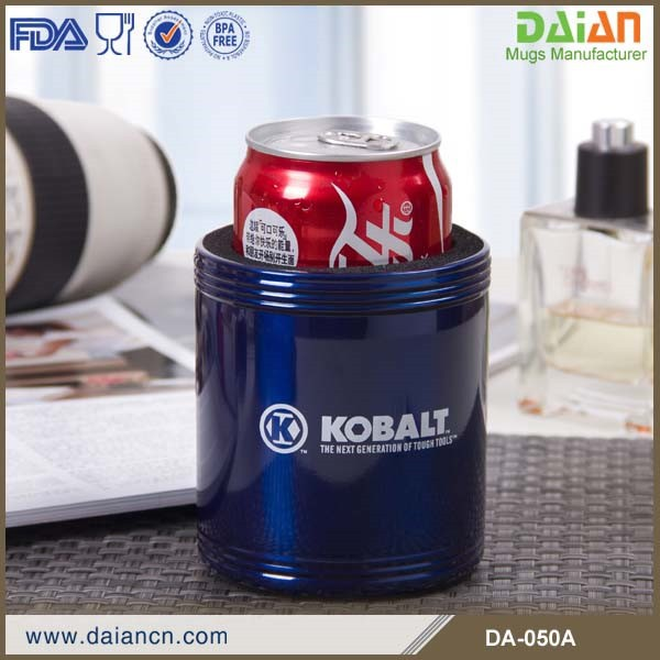 Personalized thermos stainless steel can cooler