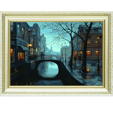 Artwork bridge view design canvas painting by number