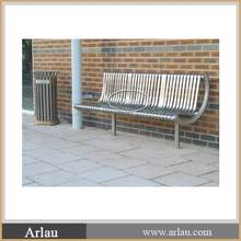 Arlau outdoor furniture /stainless steel park bench for sale