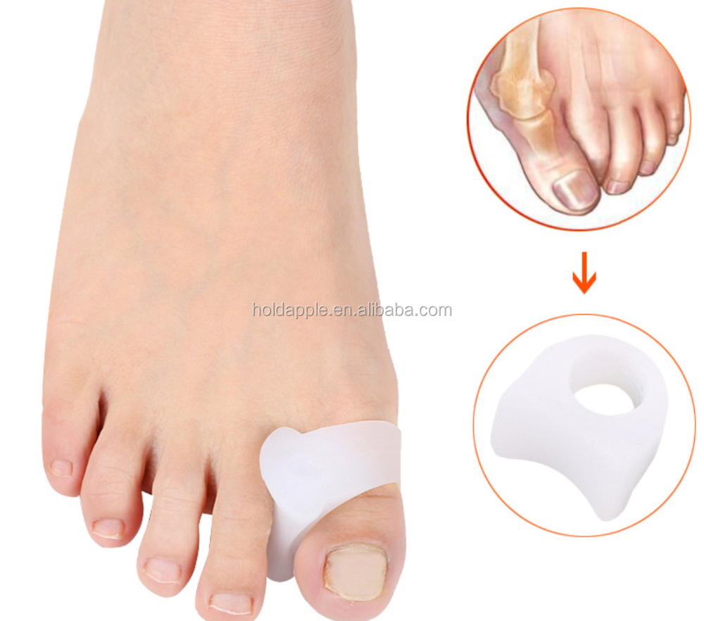 2 PCS Feet Care Silicone Gel Bunion Big Toe Separator Spreader Eases Foot Hallux Valgus Protector Correction HA00489