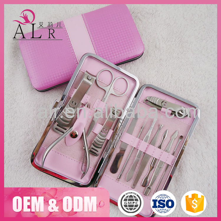 All stainless steel professional manicure pedicure set tool