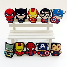 Party Give Away Gift Boys Favor Cartoon Hero Logo PVC Rubber Fridge Magnet BXT-38-68