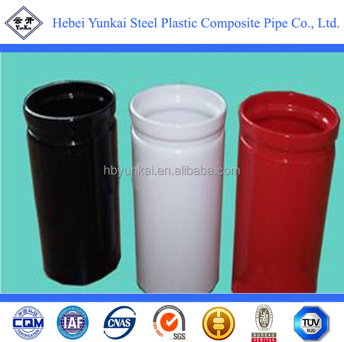 Corrosion resistant antistatic plastic coated steel pipe
