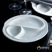 Hotel Restaurant Use Porcelain Compartment Dishes Factory Direct Wholesale