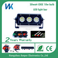 single row 30w 6'' work headlight spot/flood/combo beam DRL offroad driving LED light bar