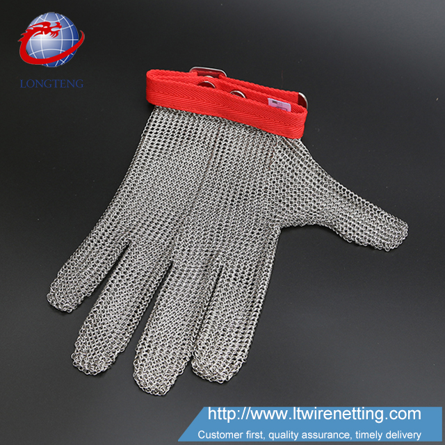 Cut proof stainless steel metal safety work gloves for fishing industry