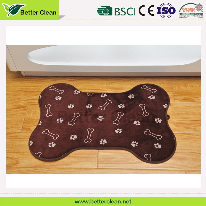 Color optional wholesales for pet bed at home microfiber dog mat