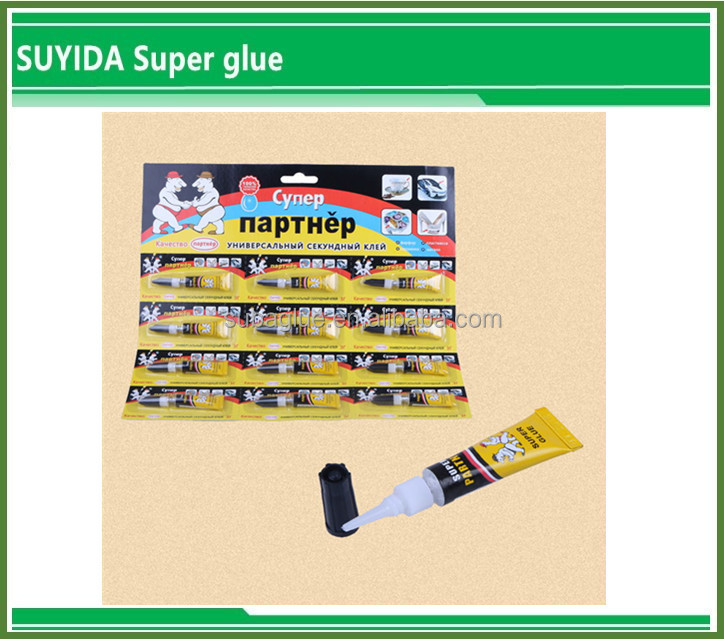 Factory Price 3g 502 Bottle package Super Glue 12pcs Blister Pack one blister card