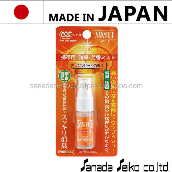 Portable Air freshener 10ml (Orange)| Sanada Seiko Chemical High Quality made in japan | custom car air freshener
