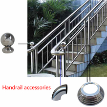 Stainless Steel Handrail Elbow/Round Tube Connector/90 Degree Connector
