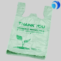 wholesales cheap price high quality biodegradable bag t-shirt bag small plastic bag