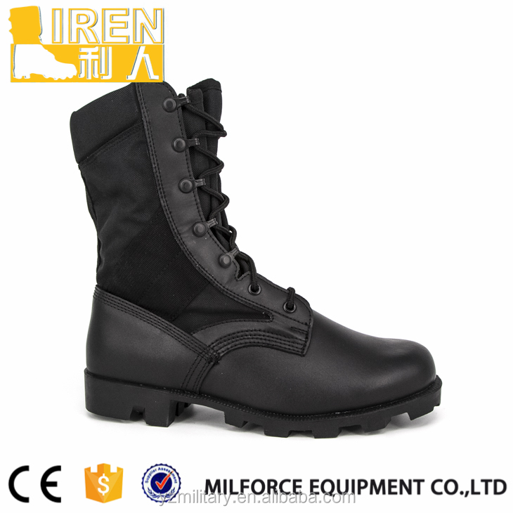 Liren-Genuine leather us style balck jungle boots