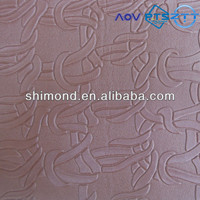Brown Color Embossed Knot Pattern PVC Leather for Bag and Upholstery