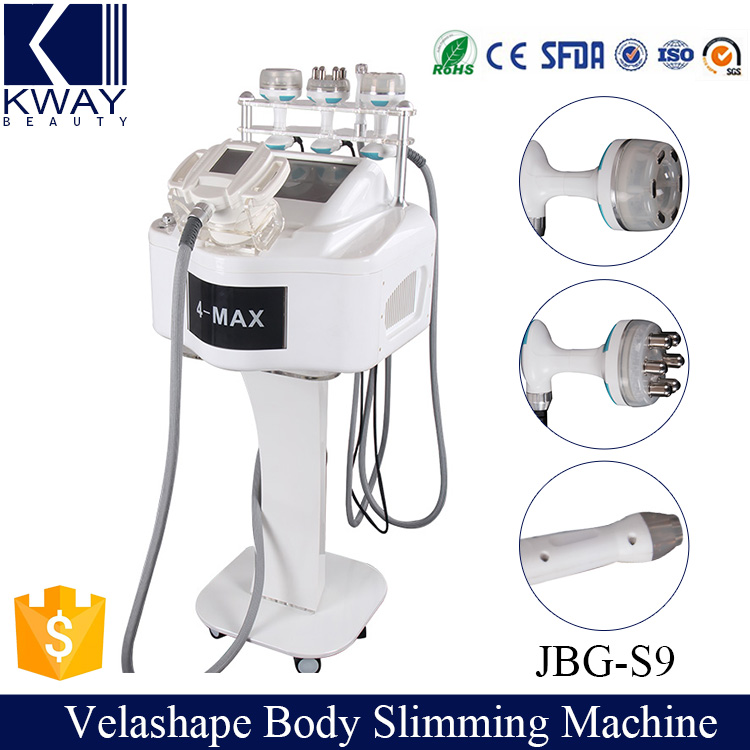 2017 High pressure vacuum suction vela shape V10 3D ultracavitation vacuum rf multipolar bio infrared light body shaping machine