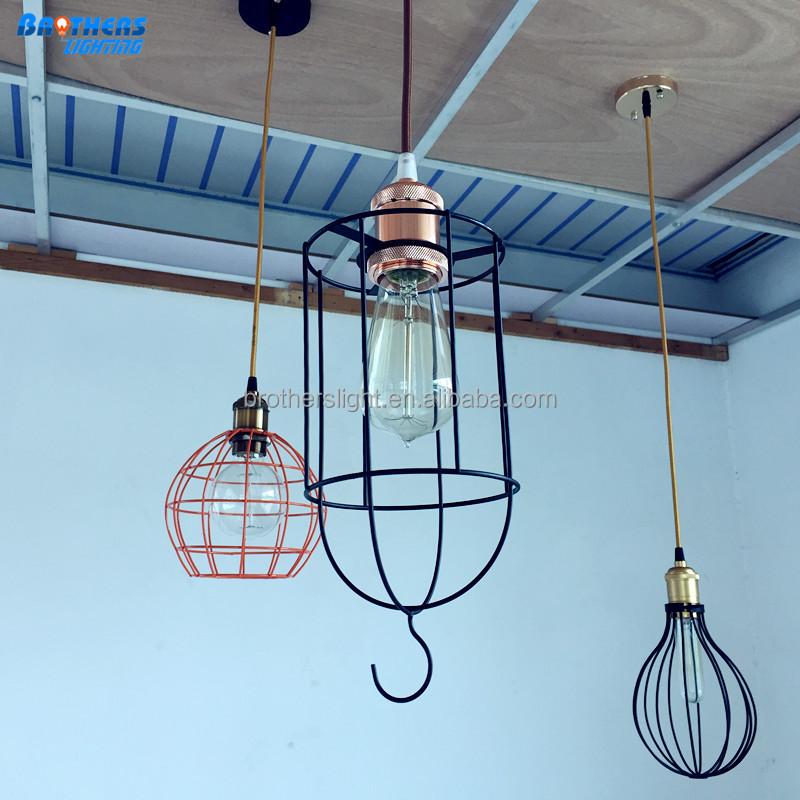 2016 New Design Vintage Anitque Restaurant Iron Wire Pendant Edison ...