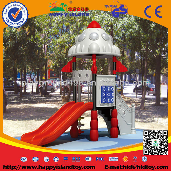 Environmental kids playground equipment, safe and durable plastic outdoor playground