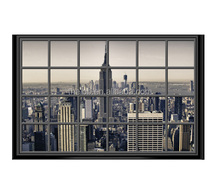 Wall art canvas print city New York city from the window 115x75cm