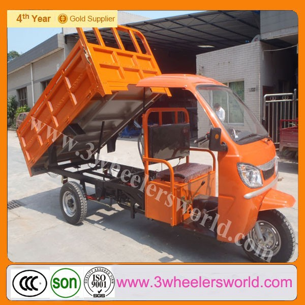 200cc Cargo Tricycle With Cabin motorized Self Dumping Motor Tricycle tricycle with hydraulic lifter tricyce for sale