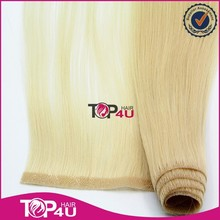 Wholesale virgin top quality 100% human remy pu skin weft