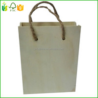 Portable Wooden Gift Box Craft Bag