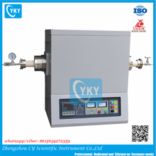 Laboratory Programmable Controlled Horizontal Electric 1600C Tube Furnace with LCD Touch Panel