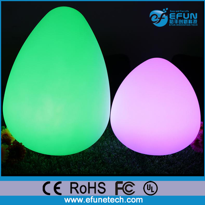 Events/party/bar/restaurant 5V wireless battery rechargeable peach shape led table mood lamps