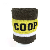 Embroidered wrist sweatband oem for sports