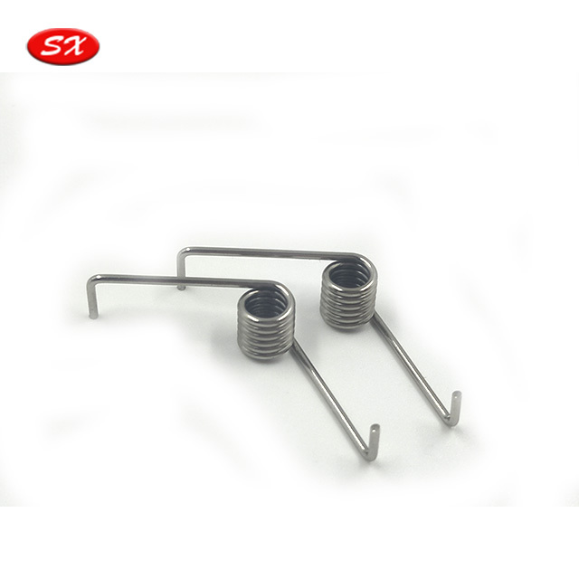 custom stainless steel music wire nickel zinc plated dual torsion spring,different kinds of torsion spring ISO9001:2008 passed